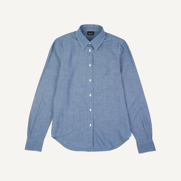 ASPESI CHAMBRAY COLLARED SHIRT