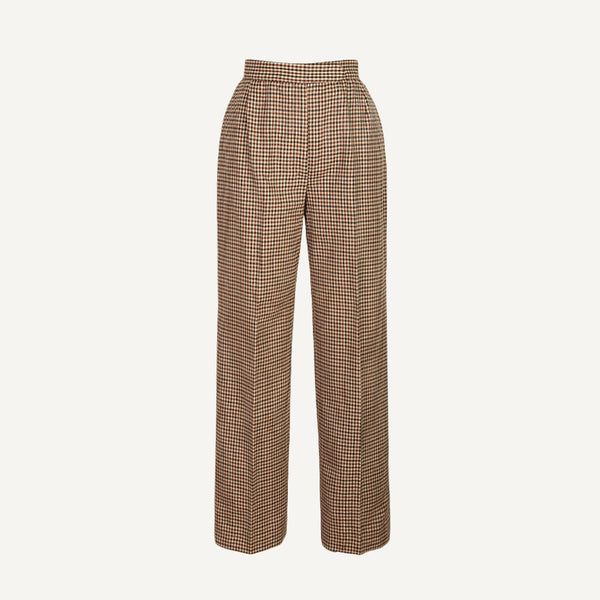 VINTAGE EVAN PICONE  + PLAIN GOODS WOOL CHECK TROUSERS