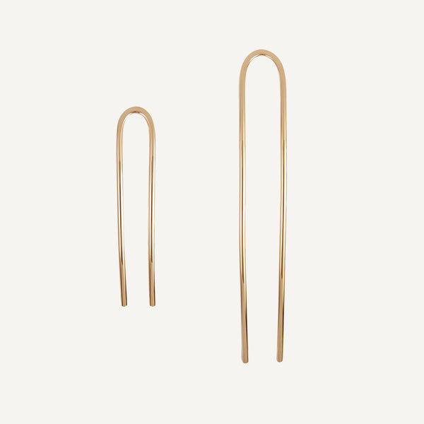 HELENA ROHNER GOLD VERMEIL HAIR PIN