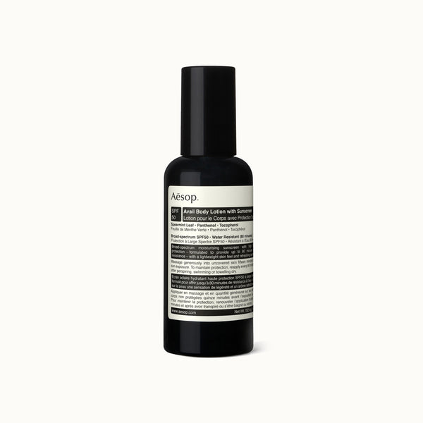 AESOP AVAIL BODY LOTION WITH SUNSCREEN