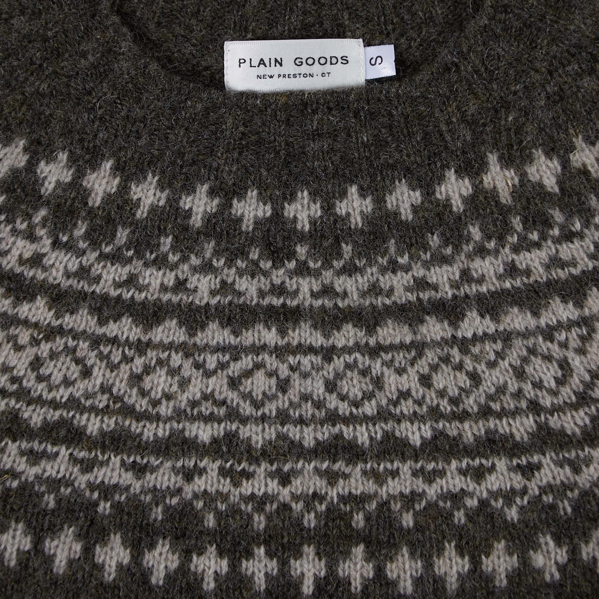PLAIN GOODS MEN'S FAIR ISLE SWEATER
