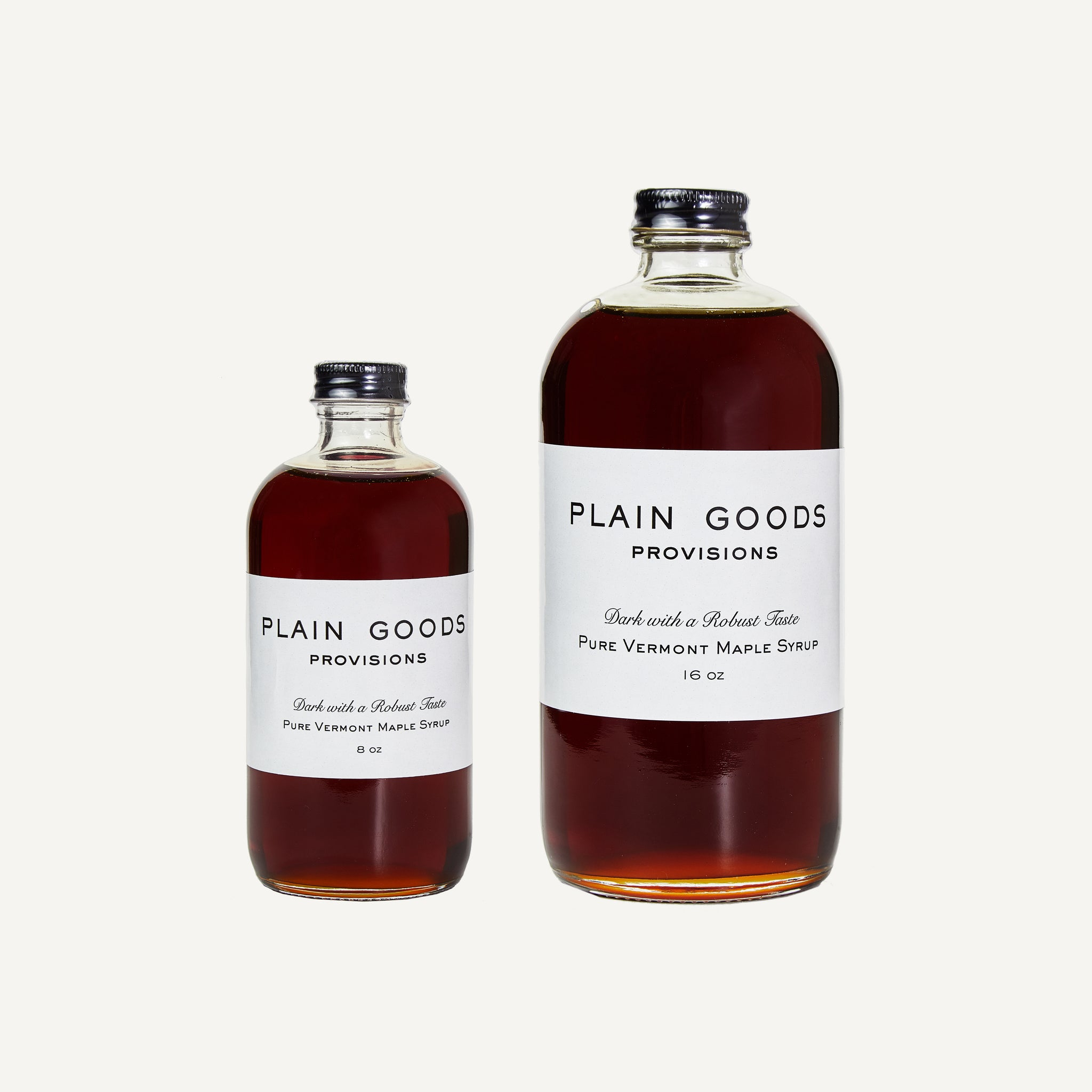 PLAIN GOODS MAPLE SYRUP