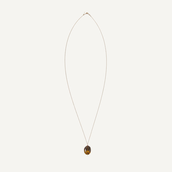 MARY MACGILL 14K AMBER NECKLACE