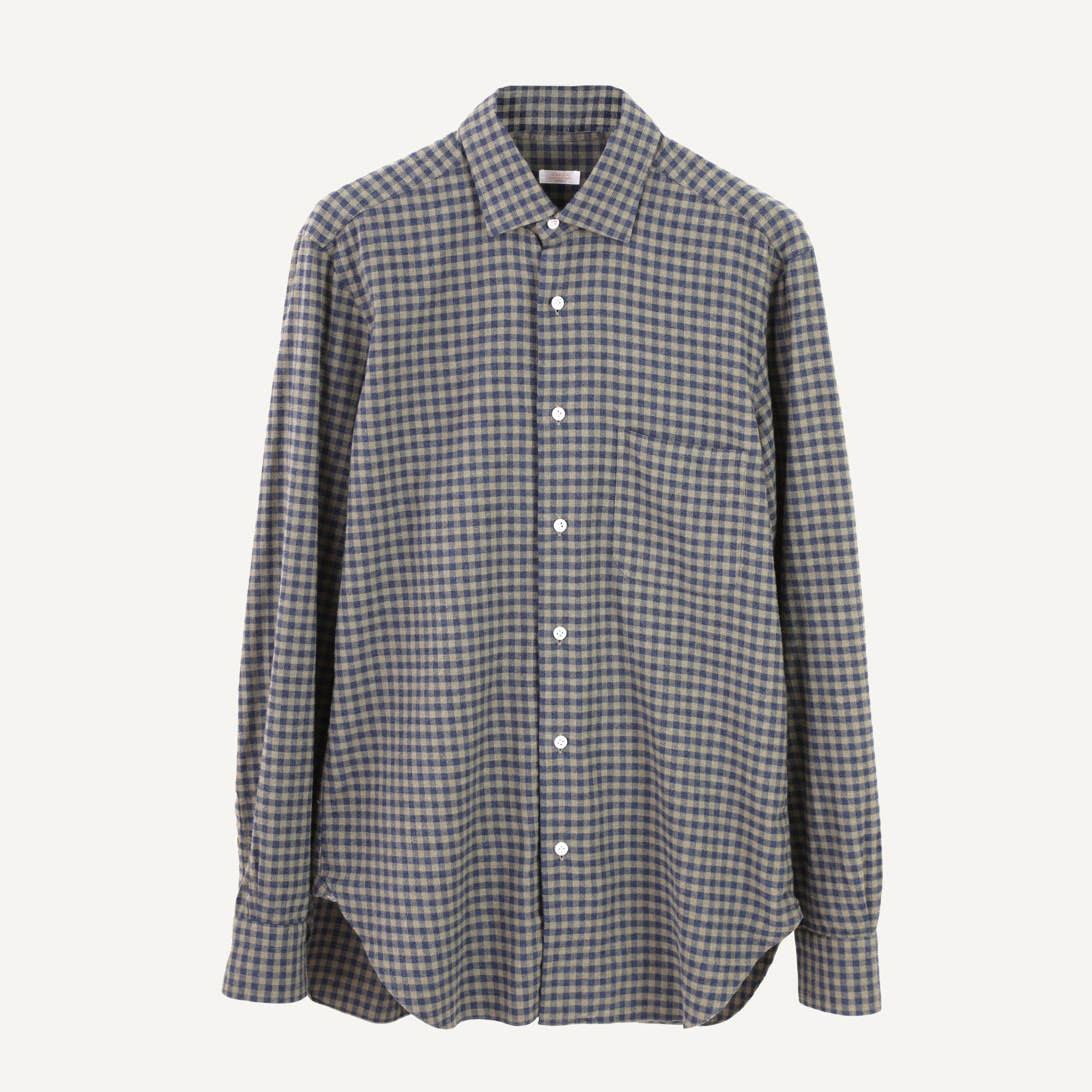 BARBA BRUSHED FLANNEL SHIRT