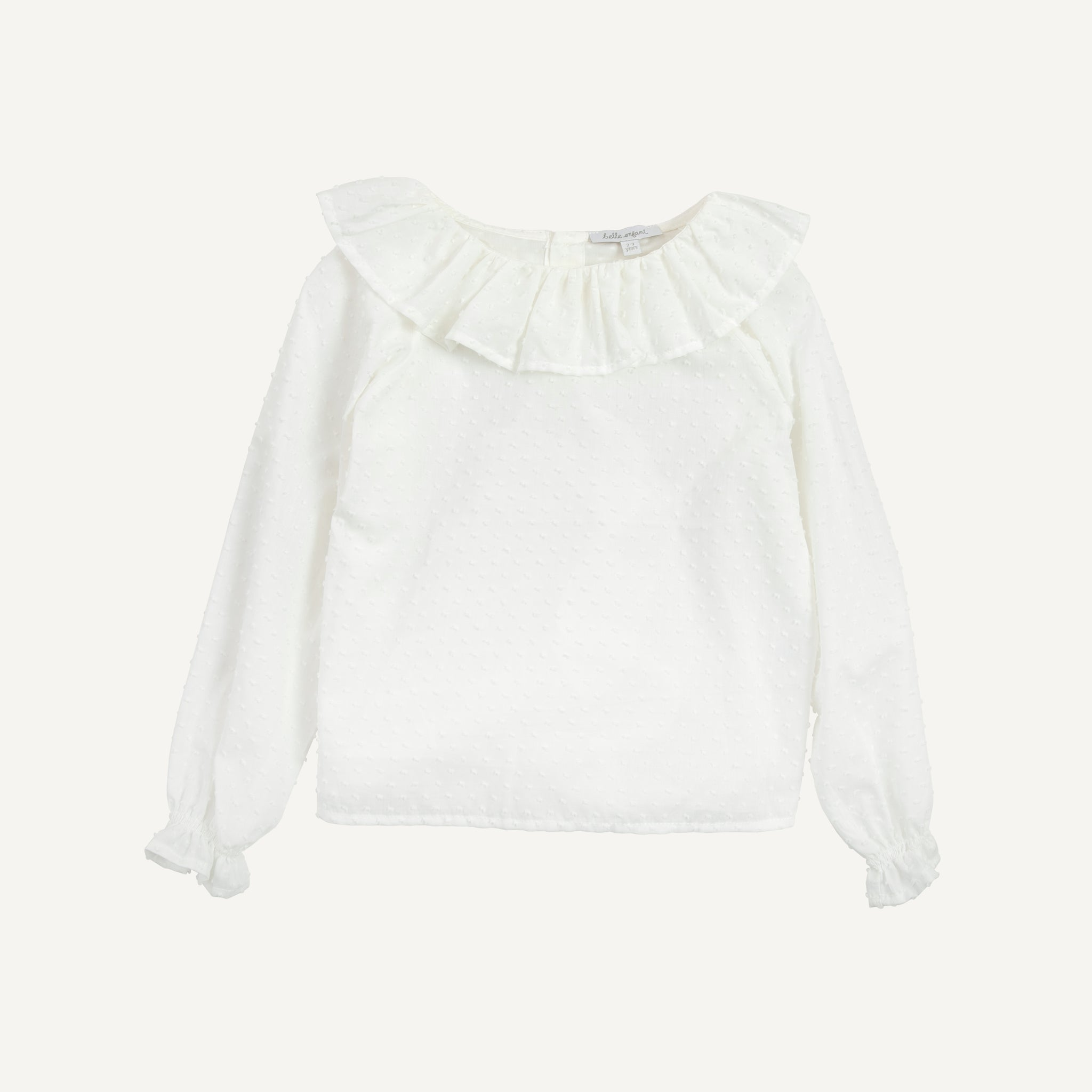 BELLE ENFANT RUFFLED COLLAR BLOUSE