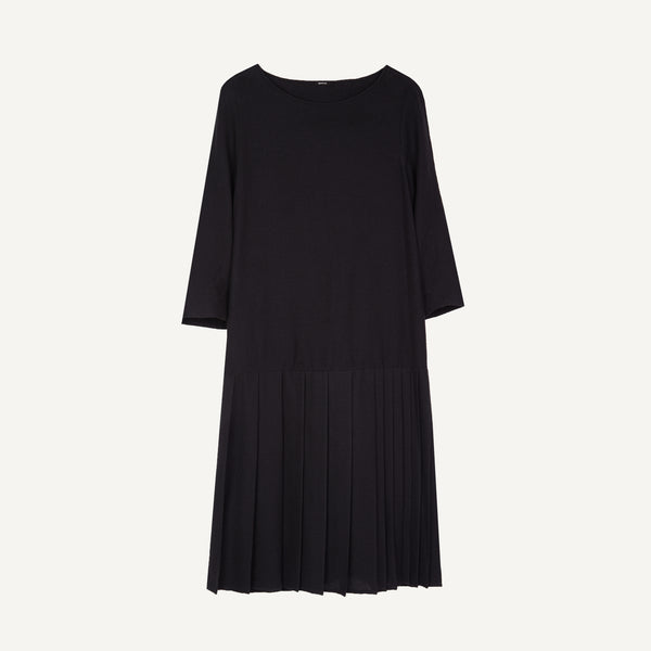 APUNTOB GAUZE PLEATED DRESS