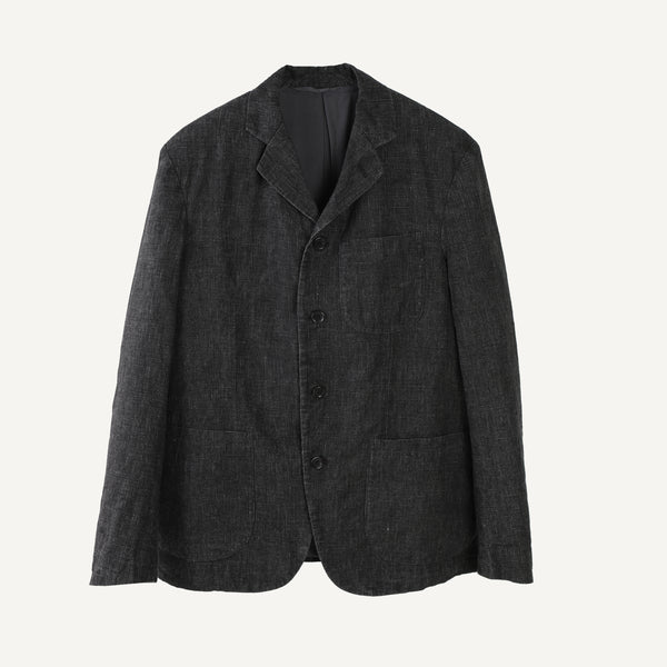 FUJITO BLACK LINEN JACKET