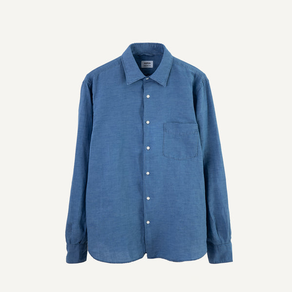 ASPESI MEN'S INDIGO-DYED SHIRT