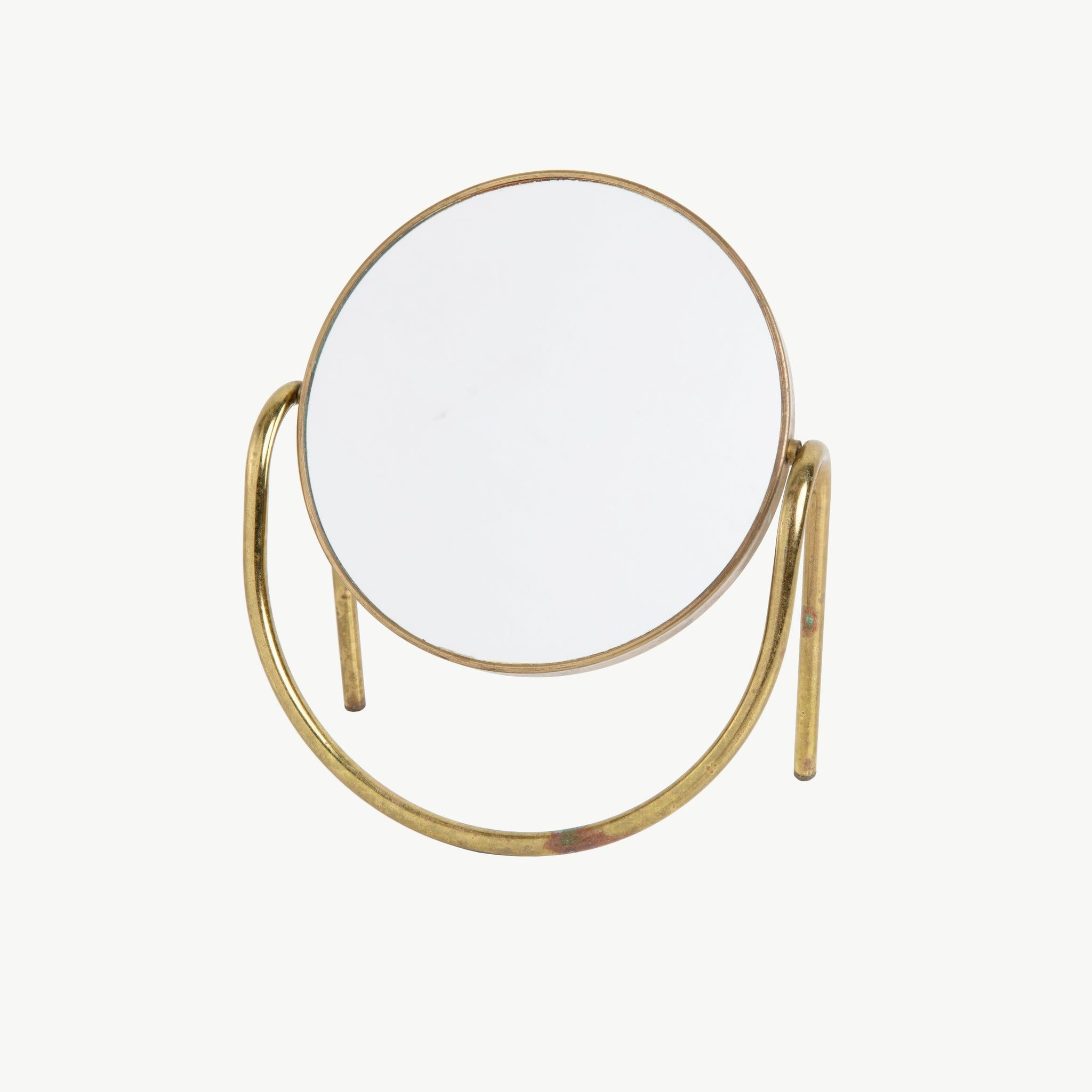 VINTAGE BRASS COSMETIC MIRROR