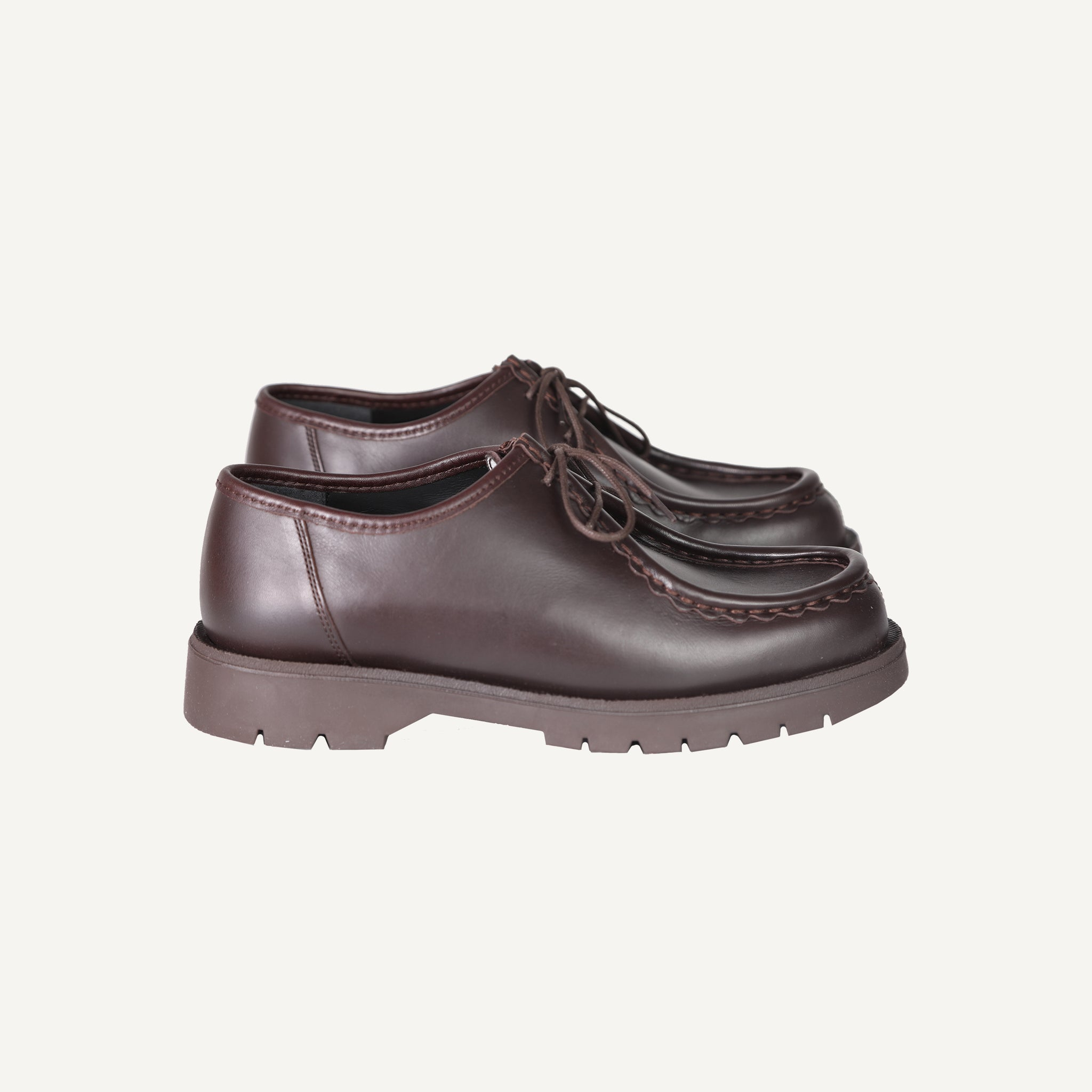 KLEMAN + PLAIN GOODS CHOCOLATE PADROR SHOES