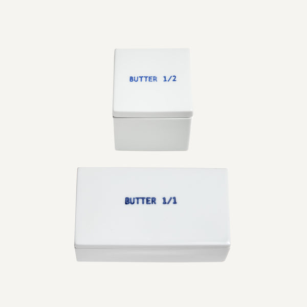 PORCELAIN BUTTER DISHES