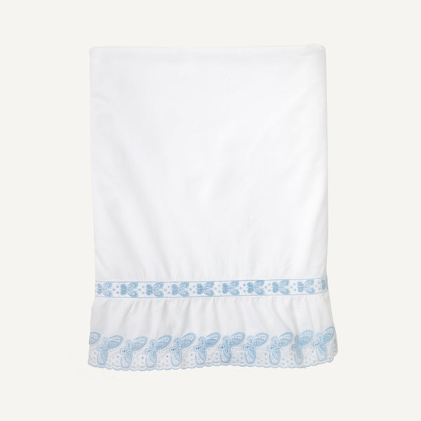 VINTAGE PERCALE EMBROIDERED SHEET