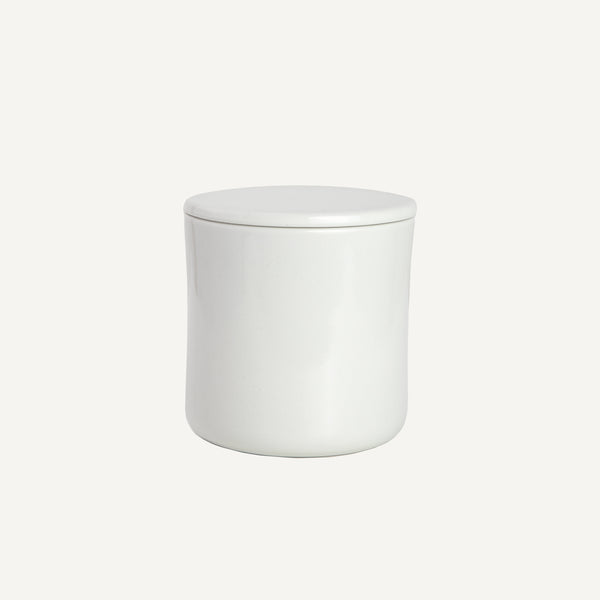 PORCELAIN COFFEE CANISTER WHITE