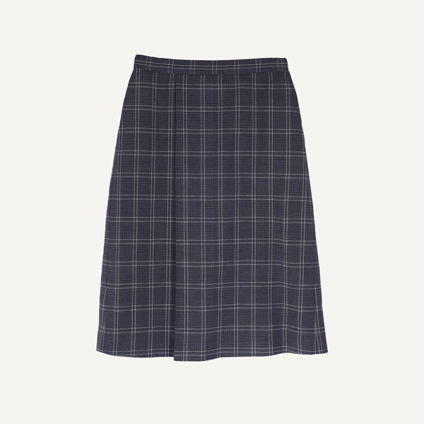 UZUPIO KETURIOLIKA PLAID SINGLE-PLEAT SKIRT