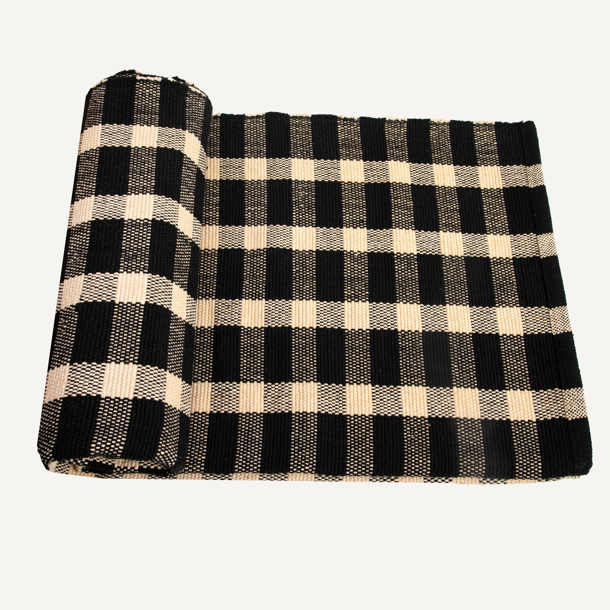 HAND-LOOMED CHECK RUGS