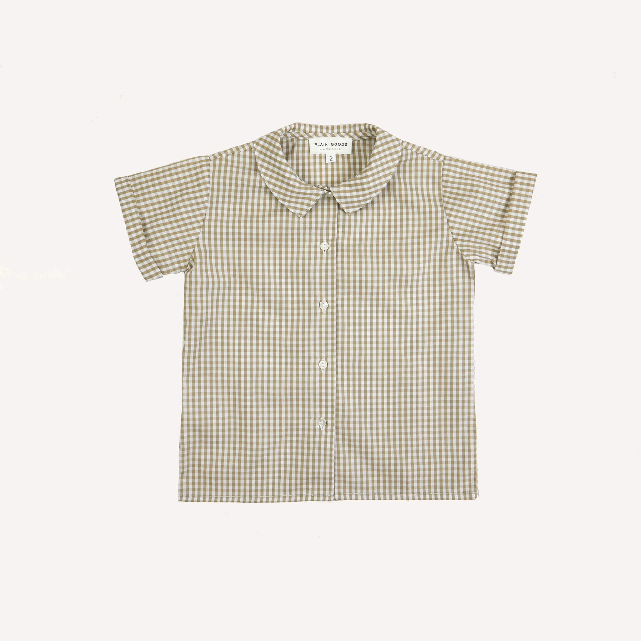 PLAIN GOODS GINGHAM SHIRT