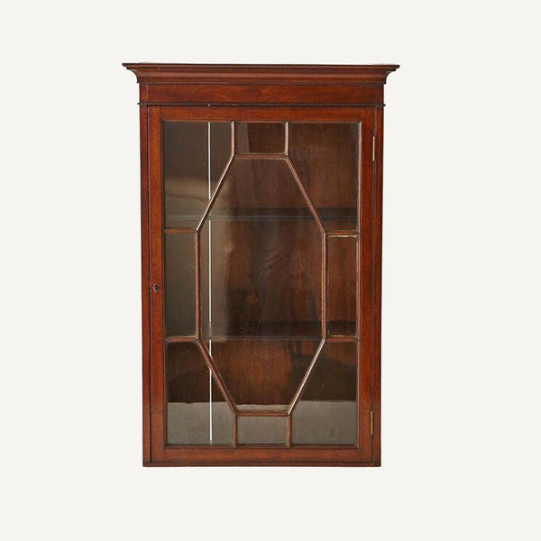 ANTIQUE CHIPPENDALE WALL CABINET