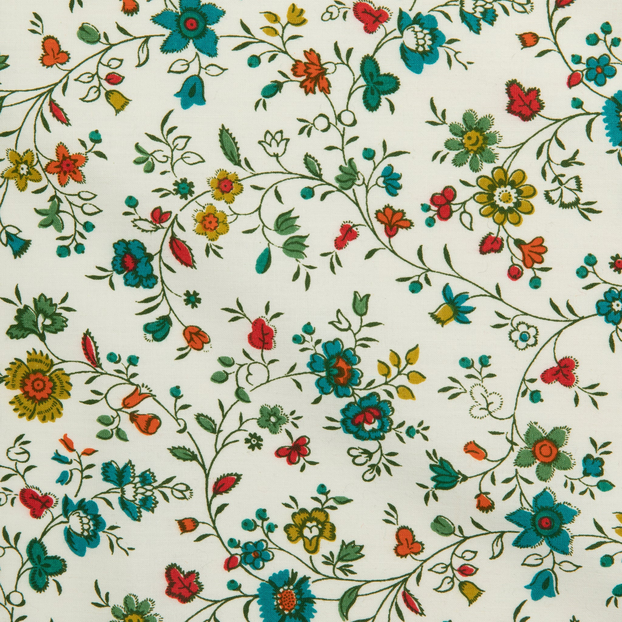 VINTAGE 'CLAREMONT' HAND BLOCKED FABRIC