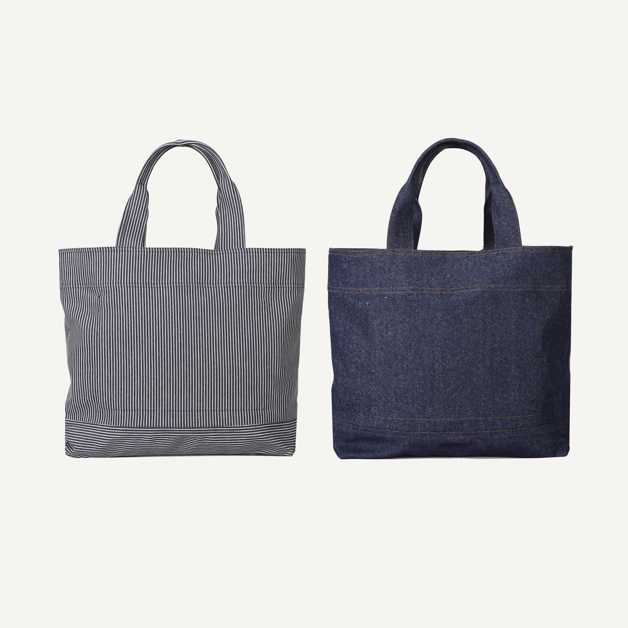 INDIGO-DYED DENIM TOTE