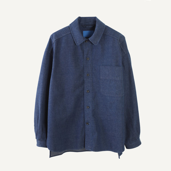 DOCUMENT INDIGO DENIM OVERSHIRT