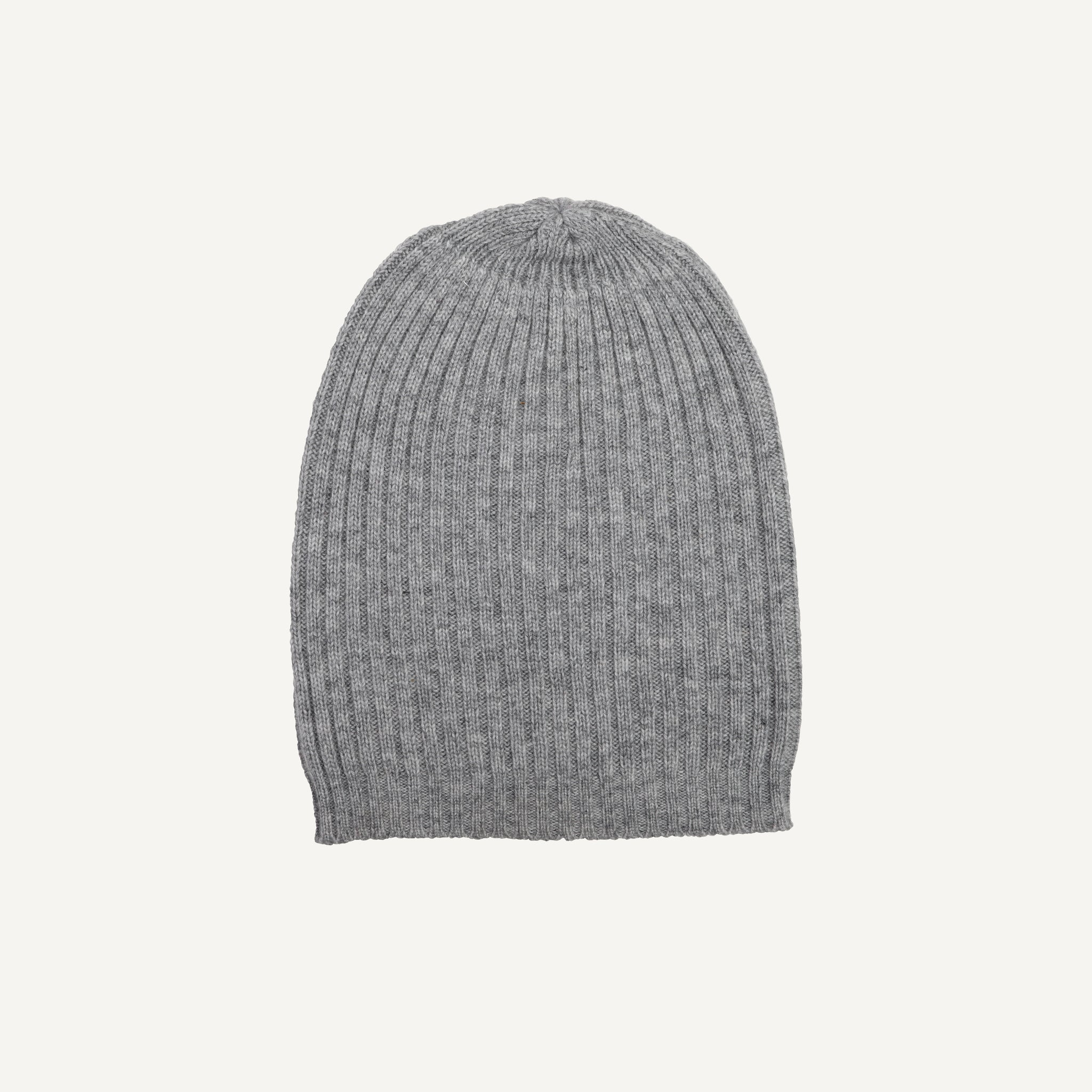 CASHMERE +  WOOL RIBBED HAT