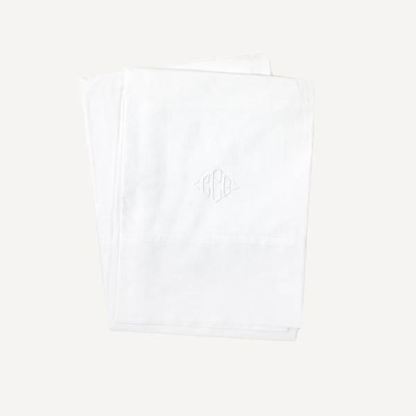 VINTAGE MONOGRAMMED PERCALE PILLOW CASES