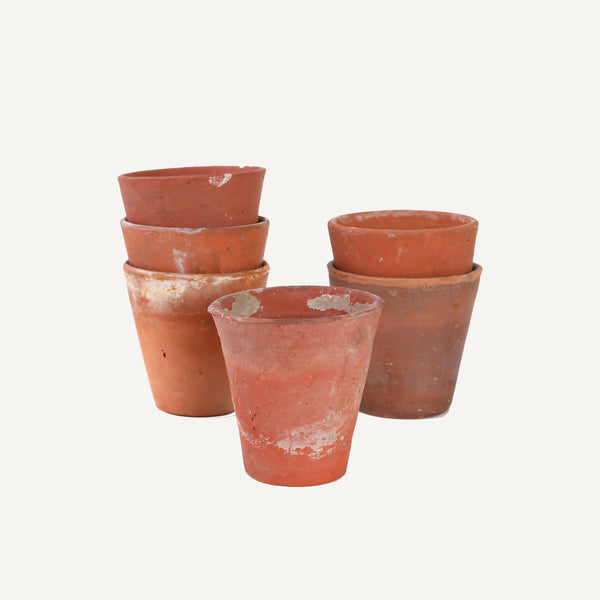 ANTIQUE ENGLISH TERRACOTTA POTS