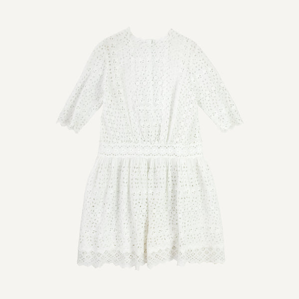 ANTIQUE CHILDREN'S EYELET DRESS