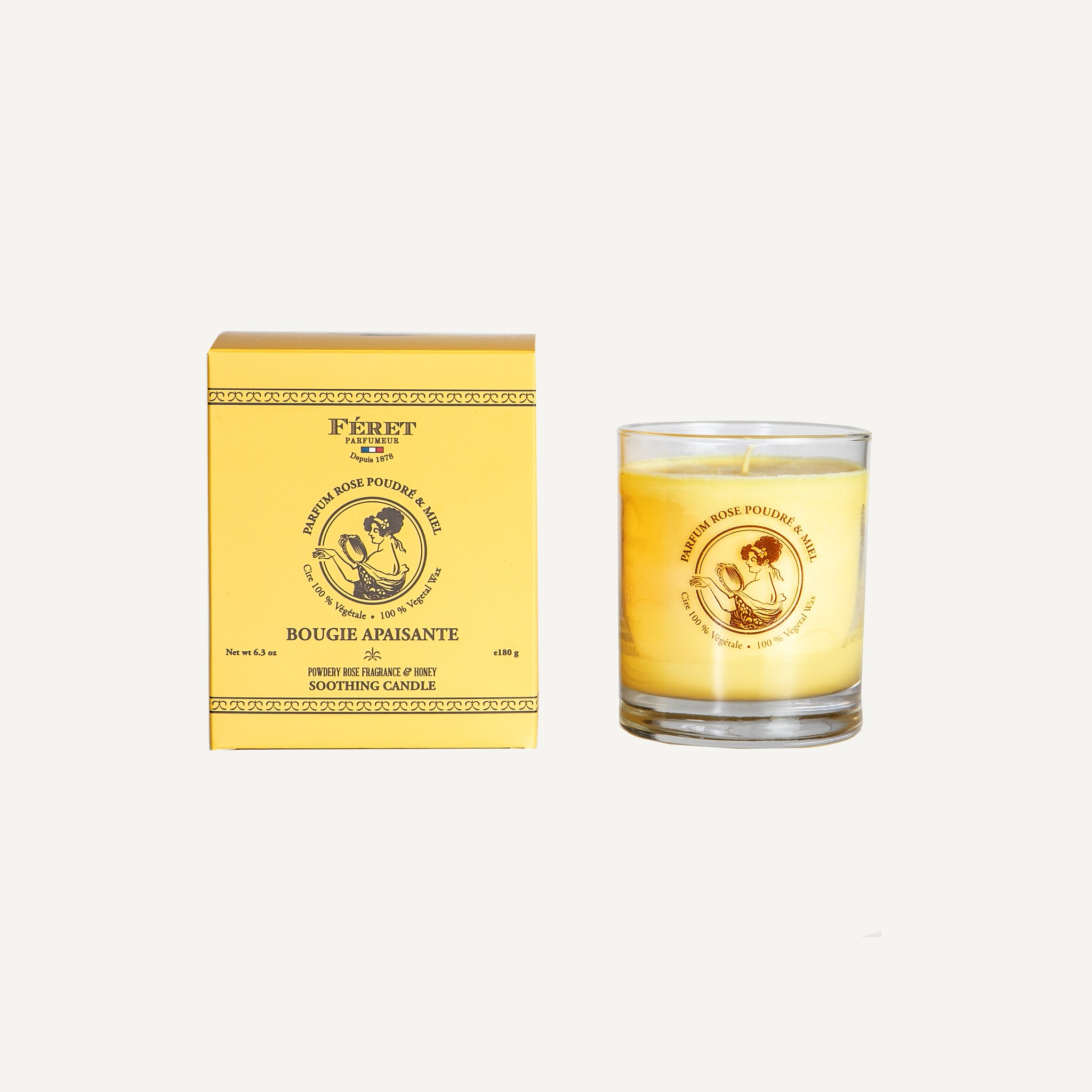 FERET ROSE + HONEY CANDLE