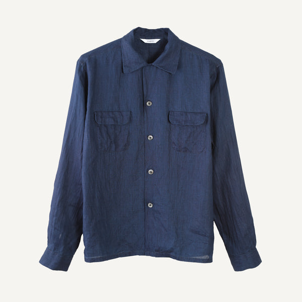 FUJITO OPEN COLLAR SHIRT