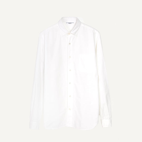 FUJITO WHITE OXFORD SHIRT
