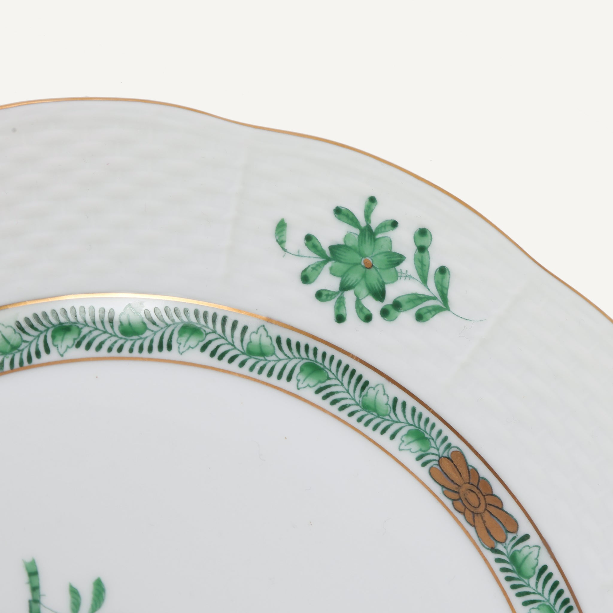 VINTAGE HEREND CHINESE BOUQUET PLATES