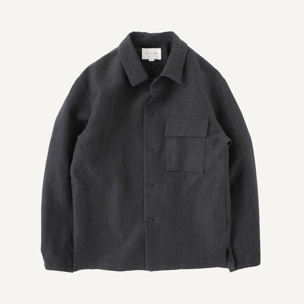 STILL BY HAND WOOL OVER SHIRT