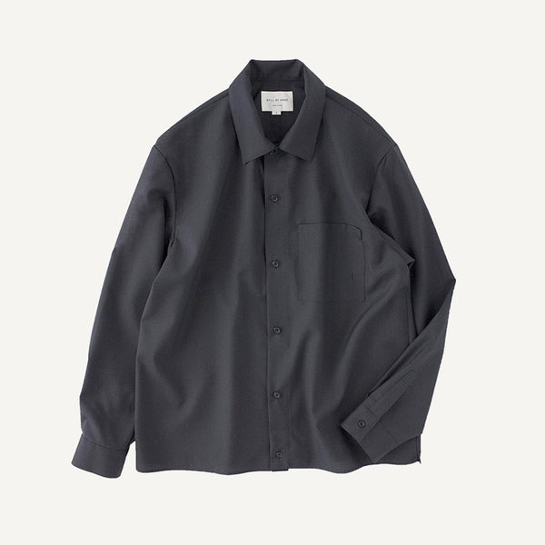 STILL BY HAND WOOL SHIRT