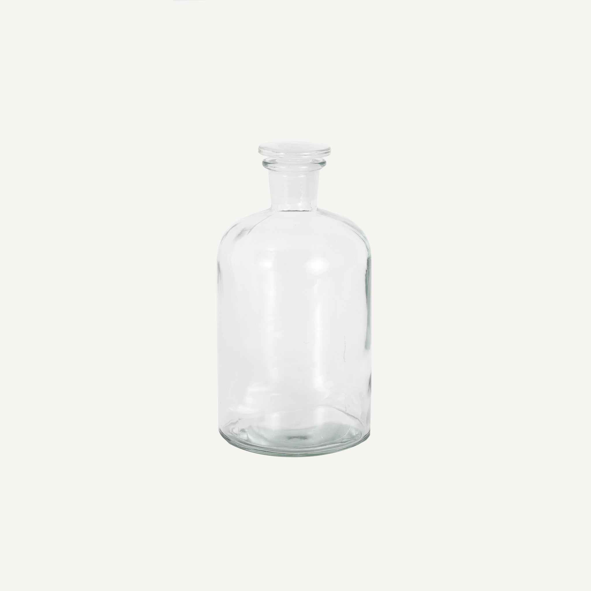 ANTIQUE APOTHECARY JAR WITH STOPPER