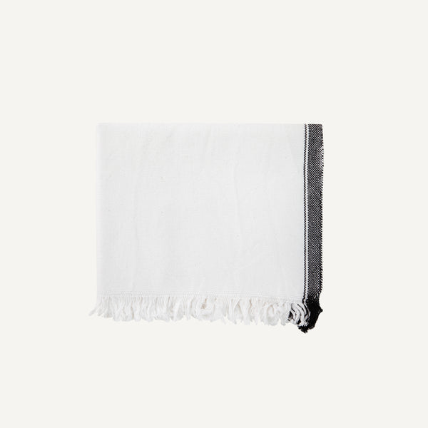 KHADI & CO. STRIPED HAND TOWEL