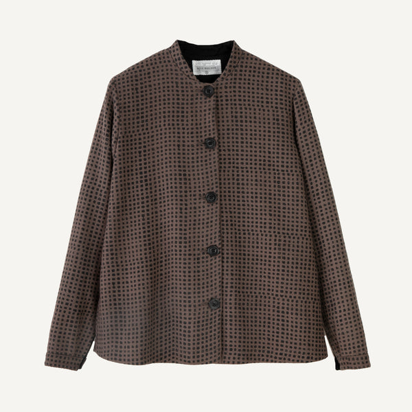 KHADI & CO HAND-BLOCKED JACKET