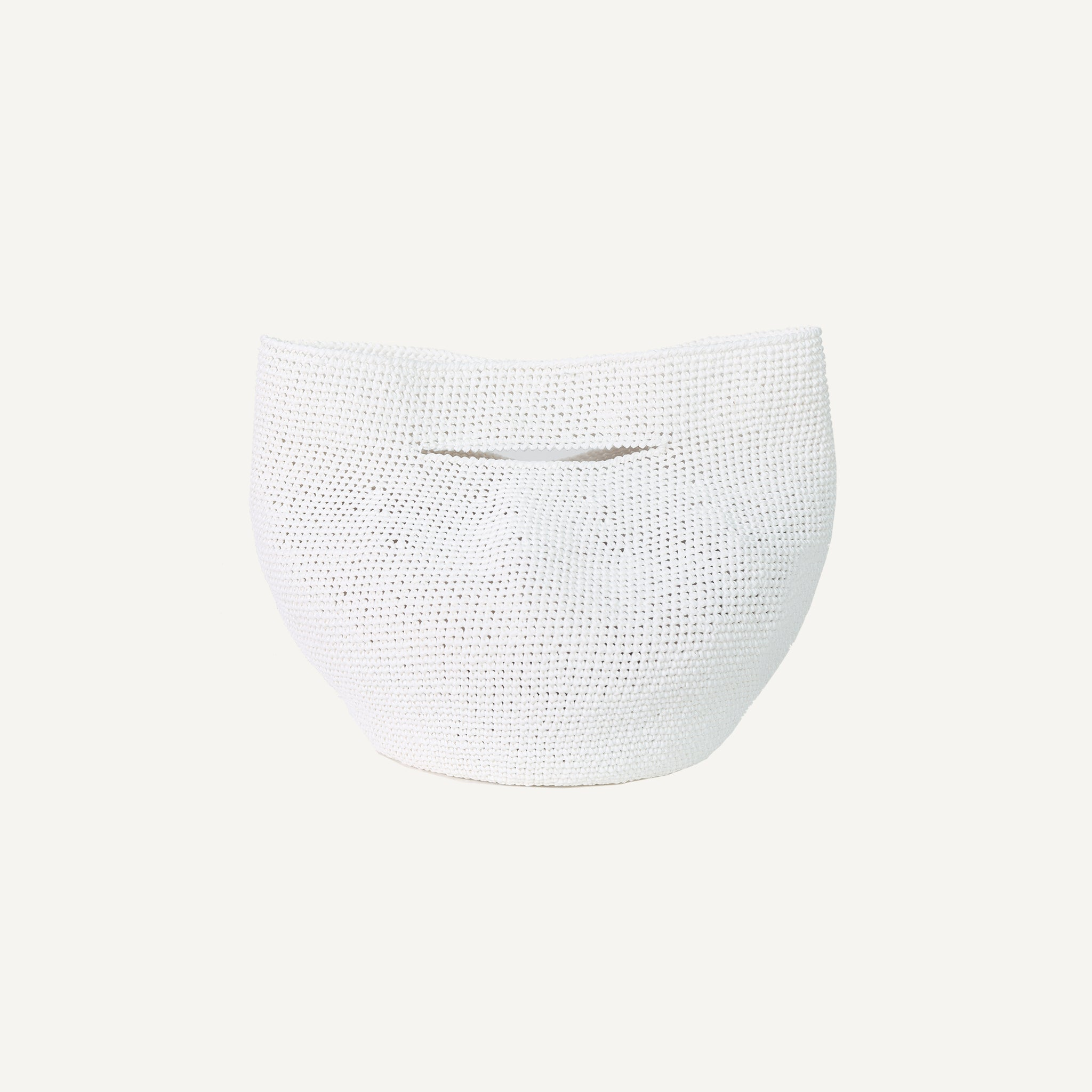 LAUREN MANOOGIAN WHITE BOWL BAG