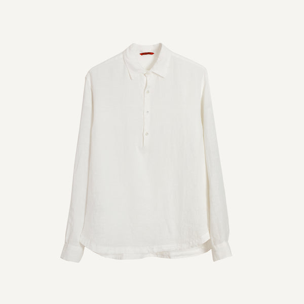 BARENA LONG SLEEVE HALF PLACKET SHIRT