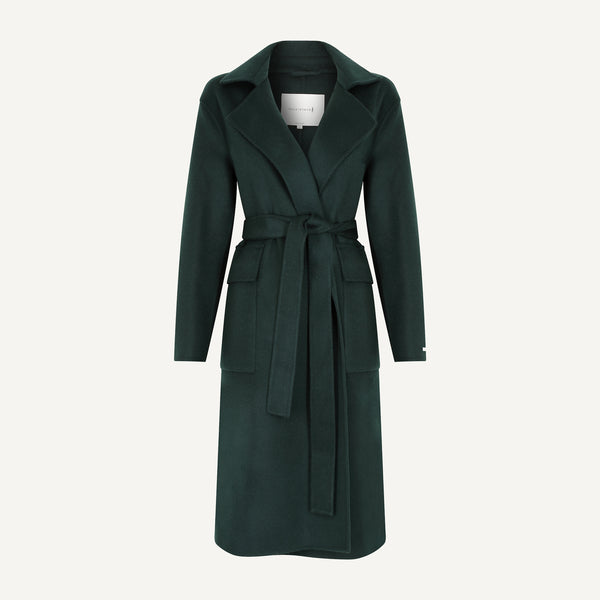 MACKINTOSH WOOL WRAP TRENCH COAT
