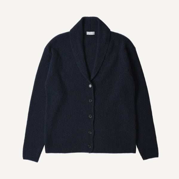 MARGARET HOWELL ENGLISH RIB CARDIGAN