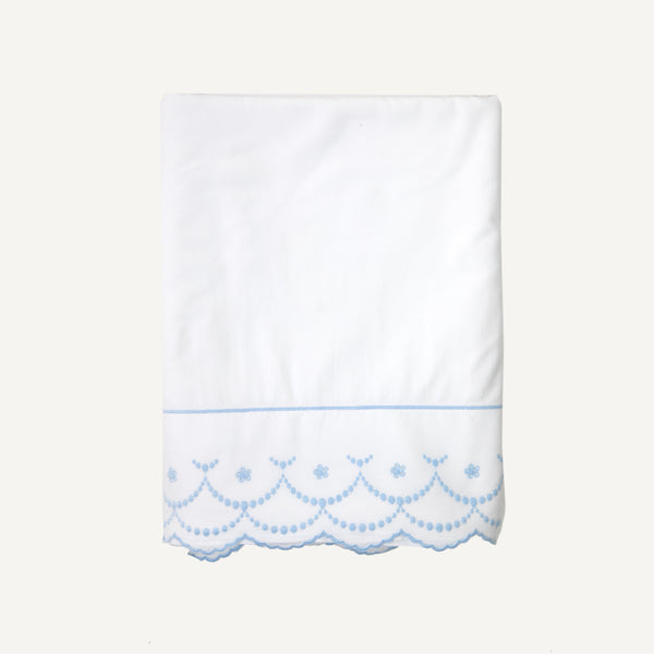 VINTAGE ST. MORITZ PERCALE EMBROIDERED SHEET