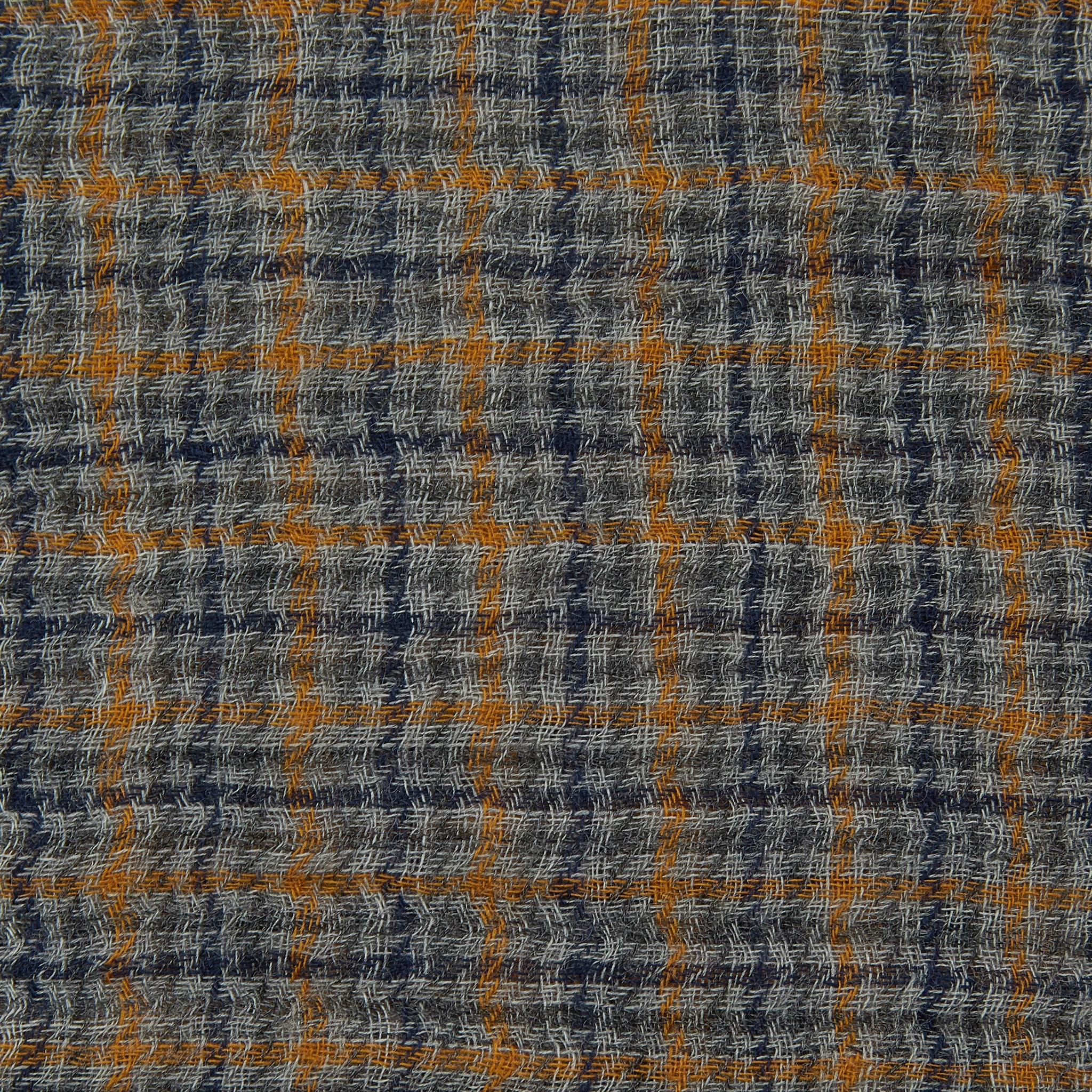 PLAIN GOODS FINE WOOL CHECK SCARF