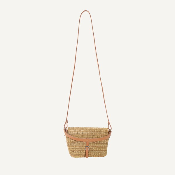MUUN STRAW CLUTCH