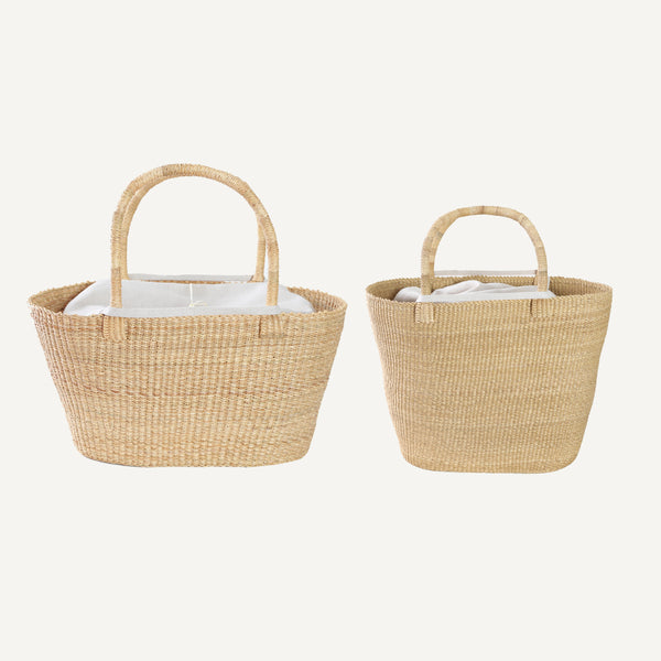 MUUN STRAW BAG WITH REMOVABLE LINING