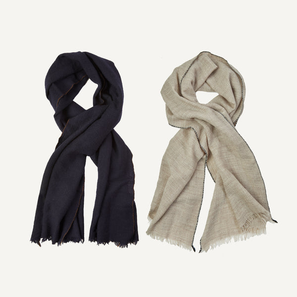 PLAIN GOODS PIPED EDGE SCARF
