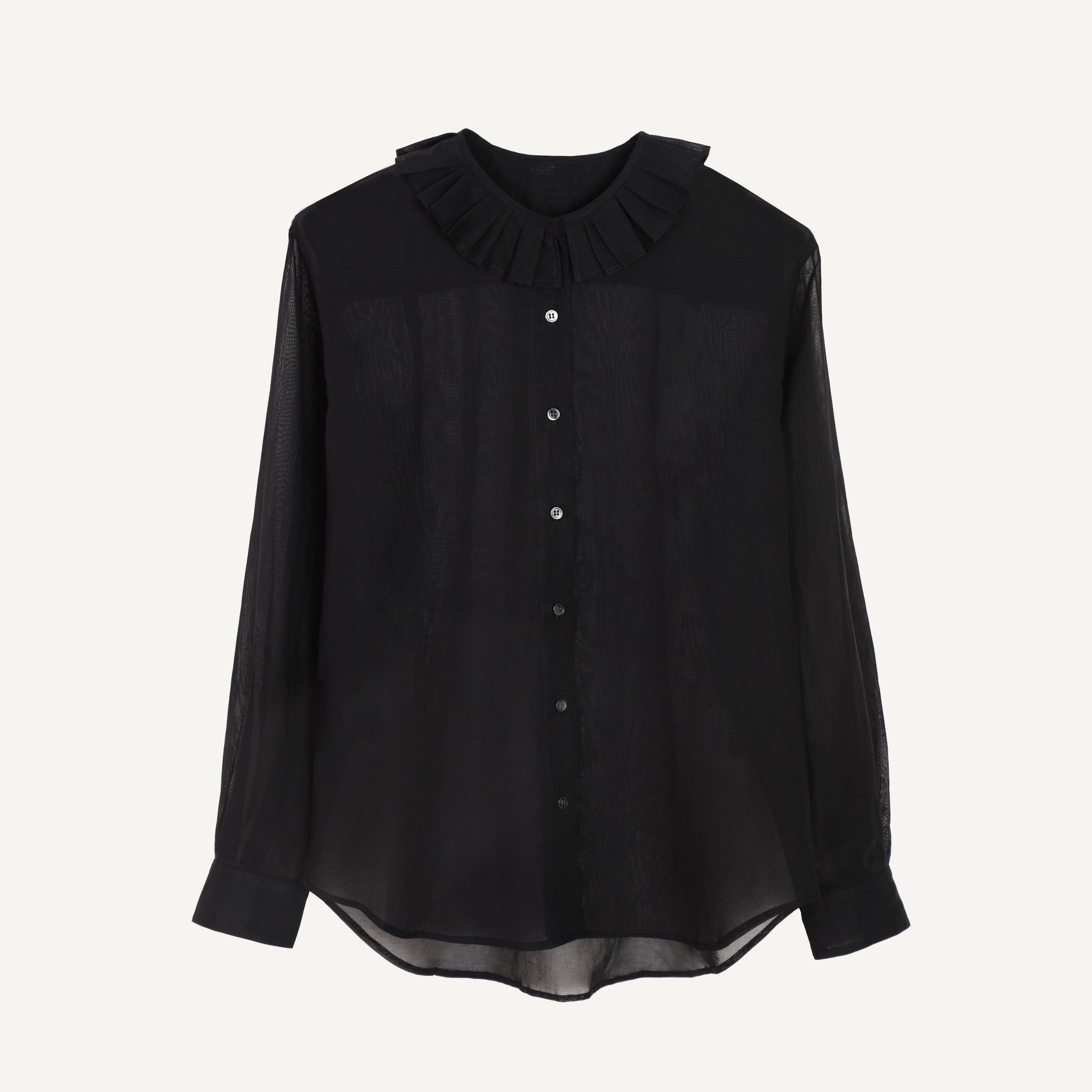 NICO RUFFLE NECK SHIRT