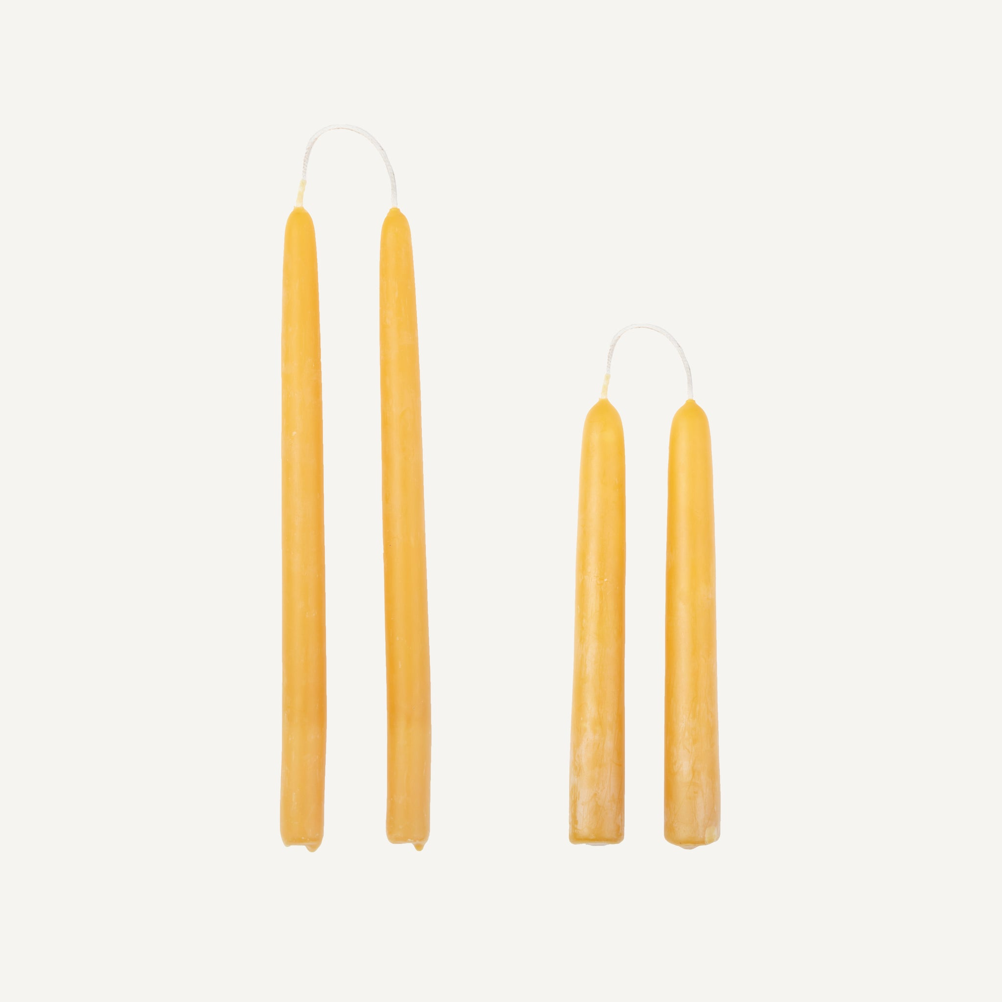 HANDMADE BEESWAX CANDLES, PAIR