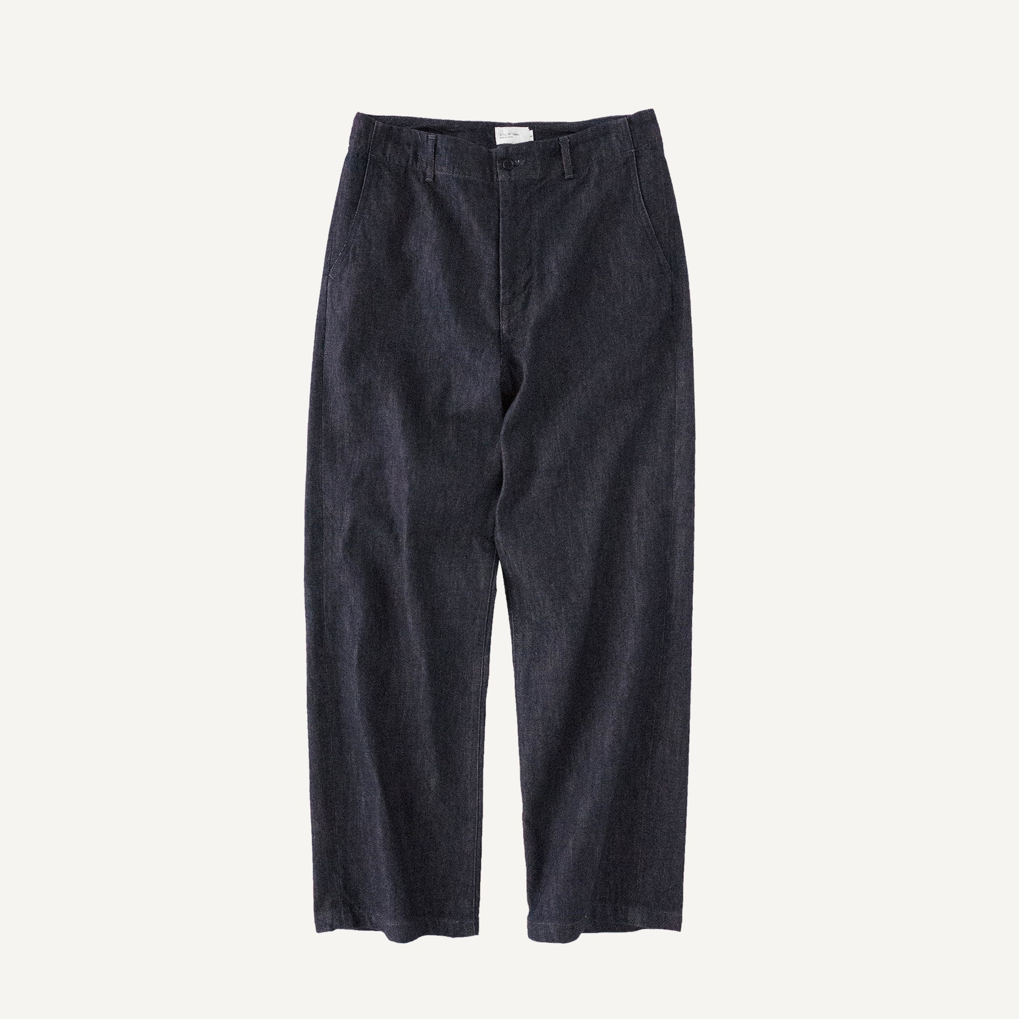 STILL BY HAND TWILL WEAVE PANTS