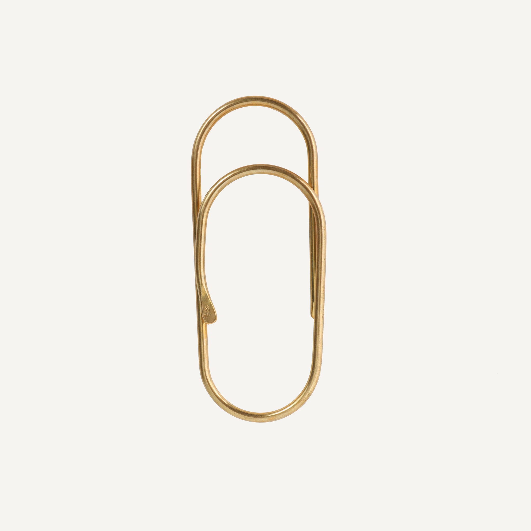 HAND FORGED BRASS PAPERCLIP